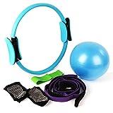 Anillo de pilates/Círculo de yoga+Bandas de resistencia+pelota de yoga+Calcetines de yoga+correa de yoga