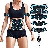 ZHENROG Electroestimulador Muscular Abdominales Cinturón,Masajeador Eléctrico Cinturón con USB,EMS Ejercitador del Cuerpo de los Músculos de Brazos y piernas para Hombre Mujer