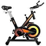 gridinlux. Trainer Alpine 6000. Bicicleta estática Spinning. Volante Inercia 10 kg, Regulación Total de Intensidad. Pantalla LCD con pulsómetro. Fitness