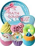 Bombas de Baño, Aofmee Bomba de Baño Set de Regalo, Sales de Baño Relajantes y Espuma, Bolas Baño Efervescentes, Regalo Cumpleaños Valentin dia de la Madre Navidad para Mujer Amigas Niños Esposas