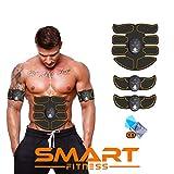 【ÚLTIMA VERSIÓN 2020】 Smart Fitness™ Electroestimulador Muscular Abdominal, Tonificador Abdomen, Electroestimulacion Abdominales, Estimulador Completo, Six Pack