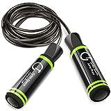 Cuerda para Saltar,Gritin Velocidad Cuerda de salto con mango de espuma de suave y cuerda ajustable libre y rodamientos de bolas rápidos para entrenamientos de gimnasia-Negro