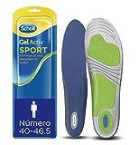 Scholl Gel Activ Sport - Plantillas para hombre, para zapatillas deportivas, mayor amortiguación y absorción del olor y sudor, talla 40 - 46.5, 1 par (2 plantillas)