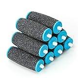9Pcs Scholl Velvet Smooth Pedi Repuestos de Cabezales de Rodillos de Repuesto, Extra Grueso para Removedor de Piel Dura