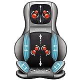 COMFIER Asiento de Masaje Shiatsu para Espalda y Cuello - Masajeador de Espalda 2D / 3D de amasamiento Completo con Calor y compresor Ajustable, Masajeador de Cuerpo Completo
